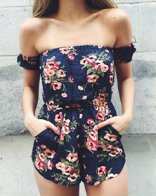 vestido con flores casual