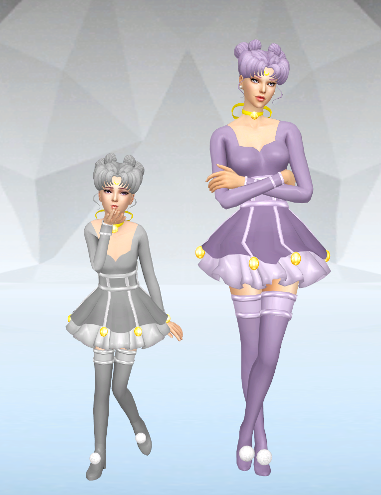 Sims 4 CC's - The Best: Diana Human Form - Dress + Hair by ...