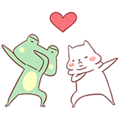 Cutie Cat and Frog 2