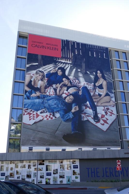 Calvin Klein Our family Kardashians billboard