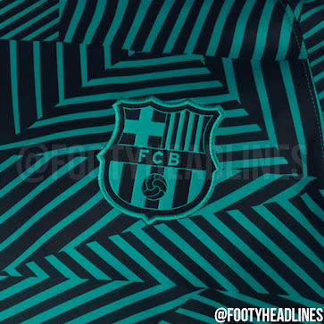 detailed look 2aa6e d0b38 FC Barcelona 16-17 Champions League Pre-Match Kit Revealed ...
