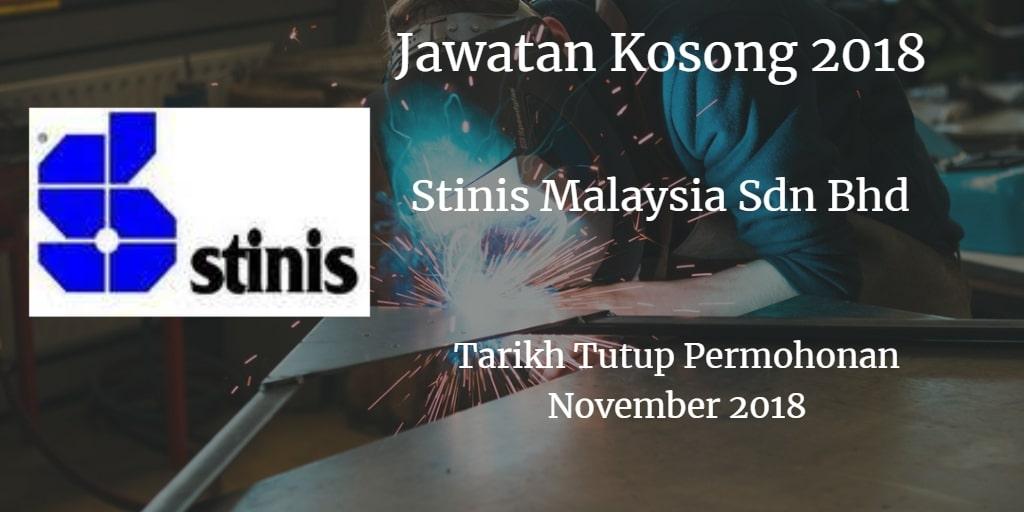Jawatan Kosong Stinis Malaysia Sdn Bhd November 2018
