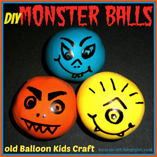 DIY Monster Balls wesens-art.blogspot.com