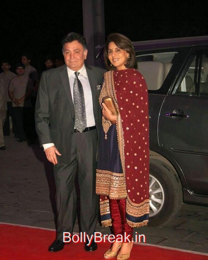 Rishi Kapoor, Neetu Singh, Rekha, Neetu Singh, Ahana Deol, Kiran Juneja At Sonakshi Sinha's Brother Kush Sinha Wedding Reception