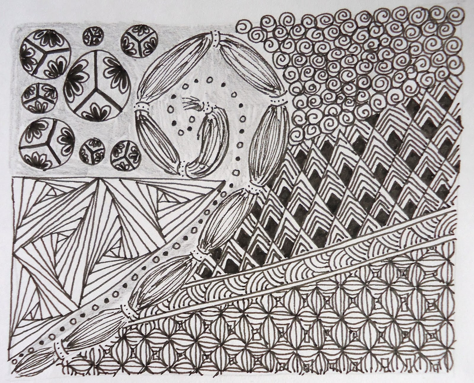 Coombe Cottages And Co Introduction To Zentangles