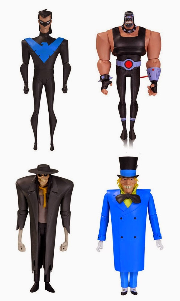"Batman: The Animated Series Wave 5 6"" Action Figures - Nightwing, Bane, The Scarecrow & The Mad Hatter"