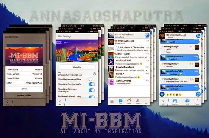 BBM Mod BlueMix v2.7.0.23 + New Emoticon