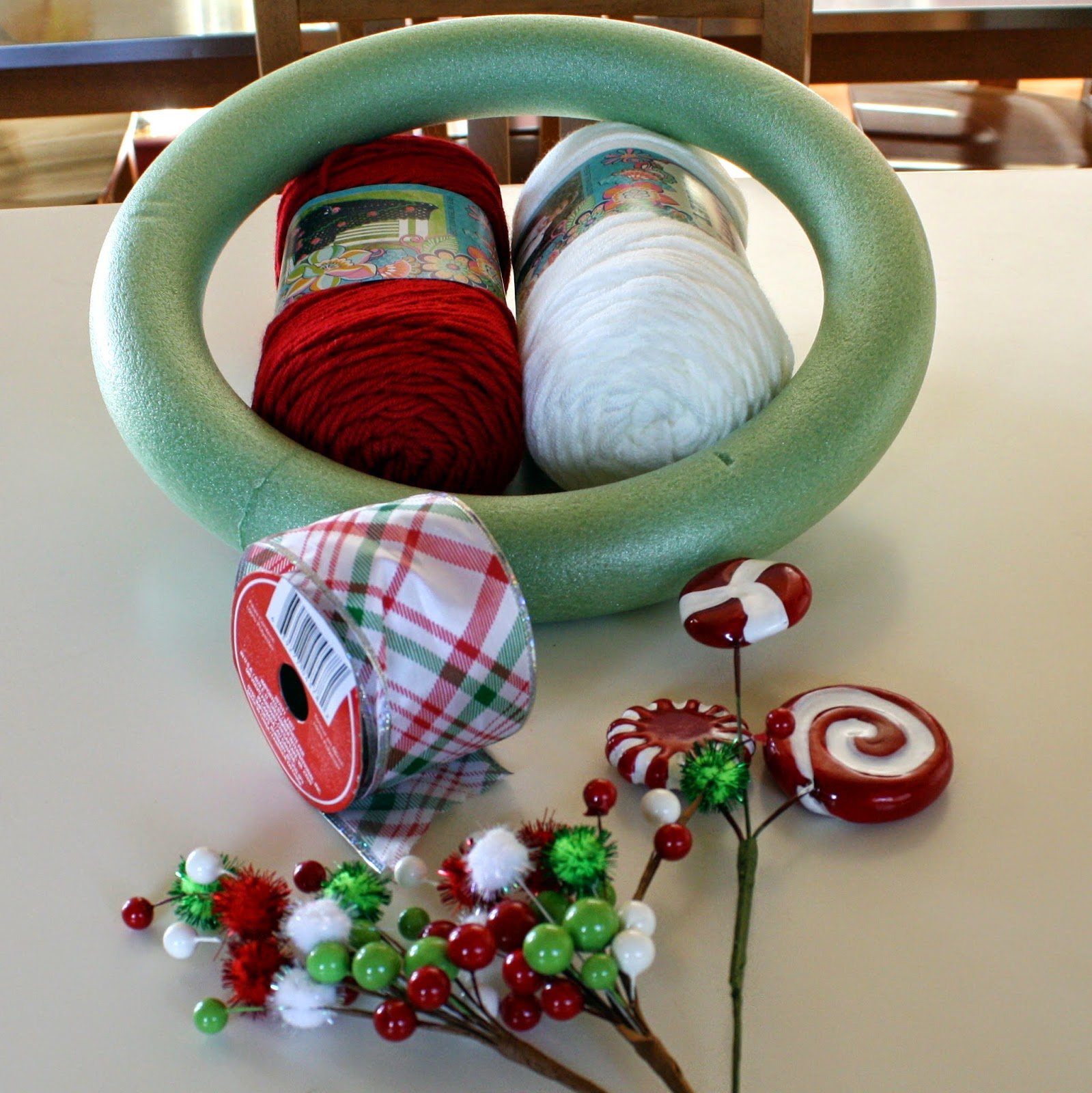 Diy Candy Cane Wreath Doused In Pink Chicago Fashion Style Blog