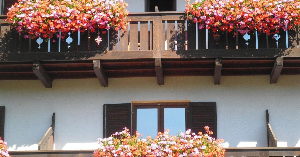 Balconi Piccolissimi : Mamma aiuta mamma fiori sui balconi delle case di montagna ecco