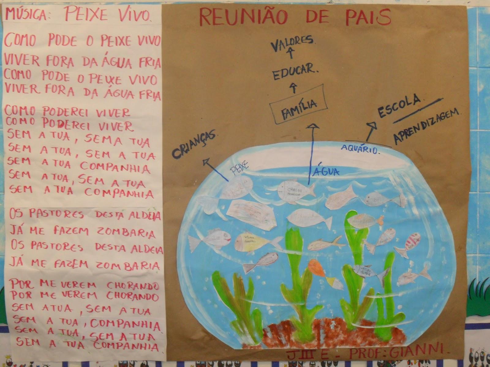 Amado Dinâmicas para reunião de pais Dinâmica do peixinho no aquário  PB23
