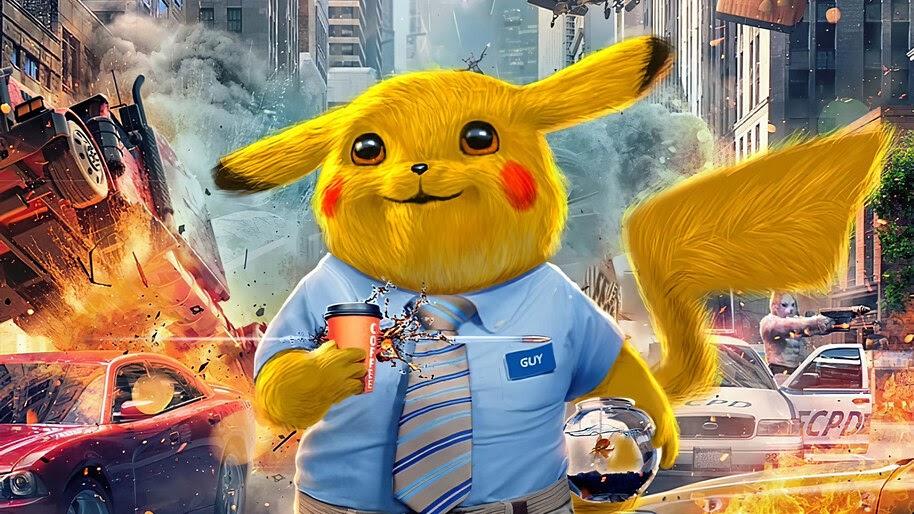Pikachu, Free Guy, Movie, Art, 4K, #3.2263