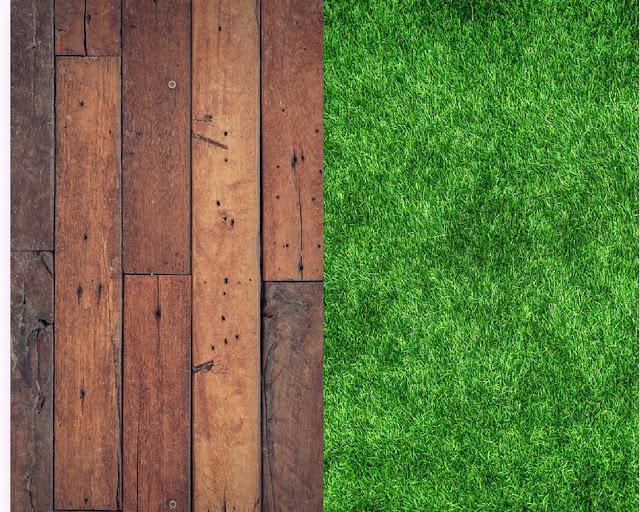 Drewno vs sztuczna trawa