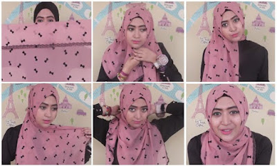Tutorial hijab pashmina sifon natasha farani dari video youtube