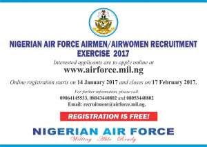 How to Apply for Nigerian Airforce Recruitment Form – 2017 [It's FREE]