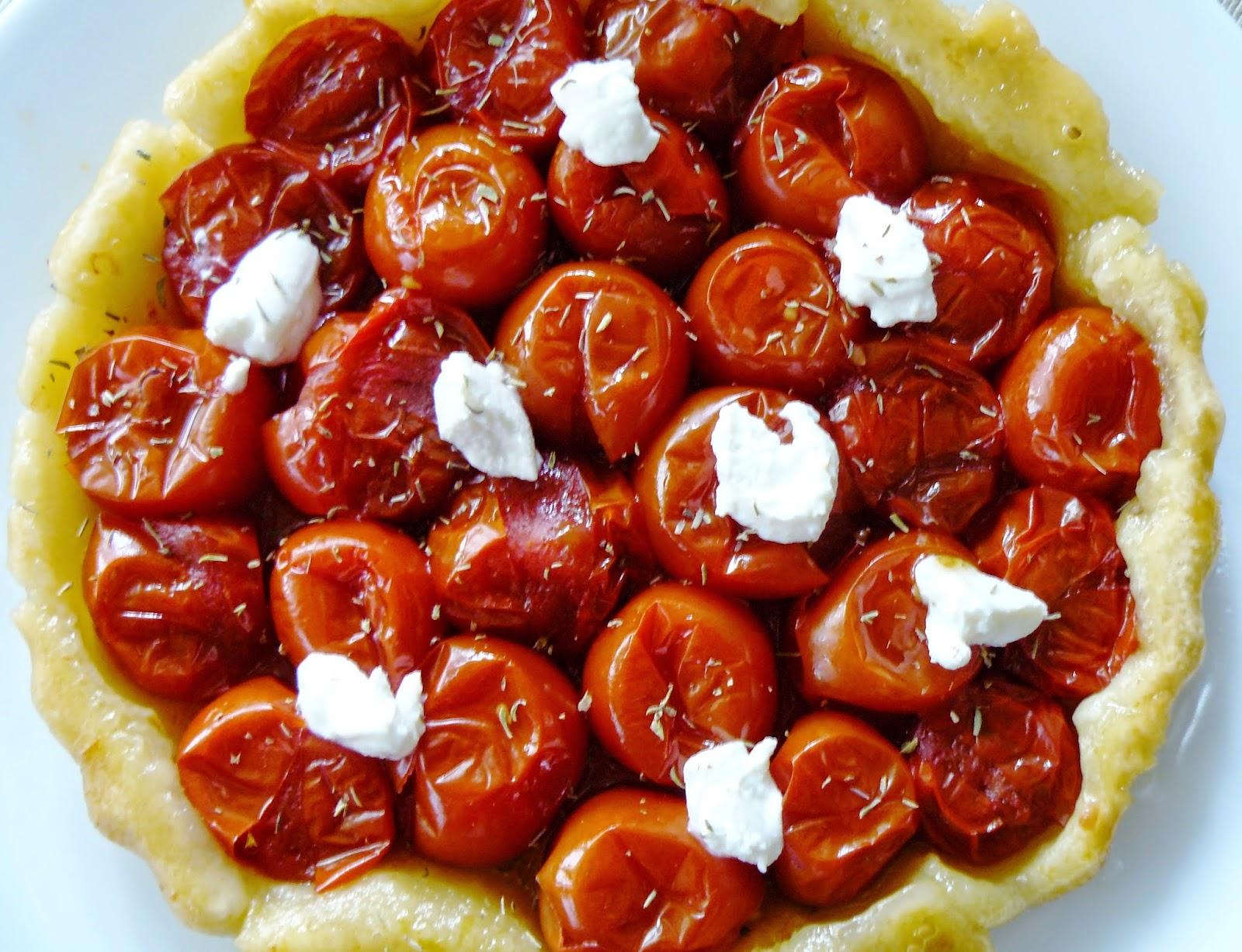 Quiche met spinazie feta en tomaat