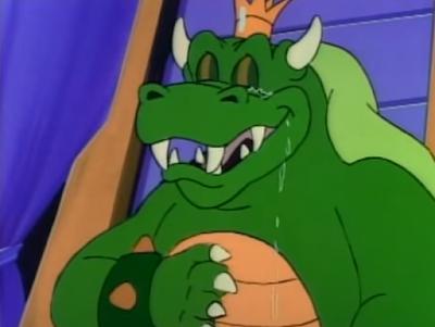 King Koopa crying tears cartoon Super Mario Bros. masculinity