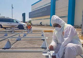 En el Hospital General de Cancún se instala un módulo para diagnosticar Coronavirus en Cancún.