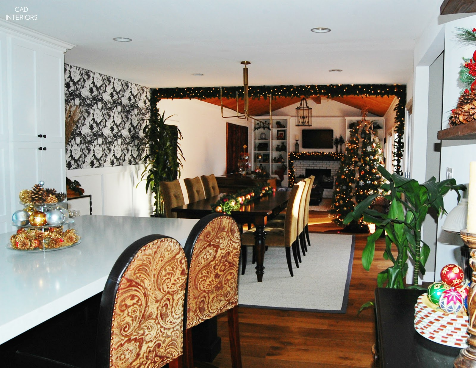 eclectic traditional modern classic holiday decorating winter blogger home tour great room