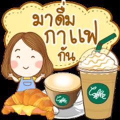 Menu in Coffee Cafe