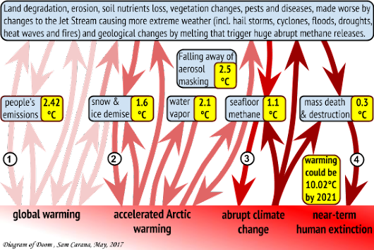 The Threat of Global Warming causing Near-Term Human Extinction