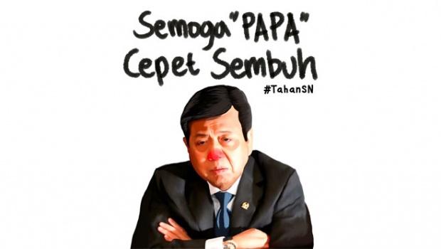 Setya Novanto Semoga 'Papa' Cepet Sembuh