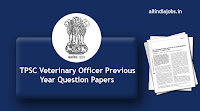 TPSC Veterinary Officer Previous Year Question Papers