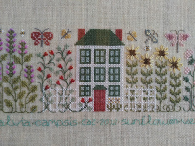 the butterfly garden, the drawn thread, bordado, embroidery, broderie