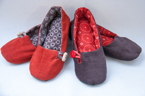 chaussons daphne en shweshwe