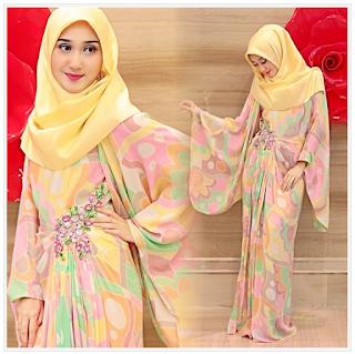 Gambar Baju Muslim Kaftan Dian Pelangi Trend 2016 Model Terbaru Lebaran
