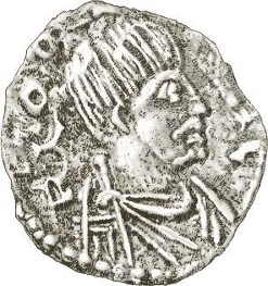 nverso de moneda de plata de Odoacro