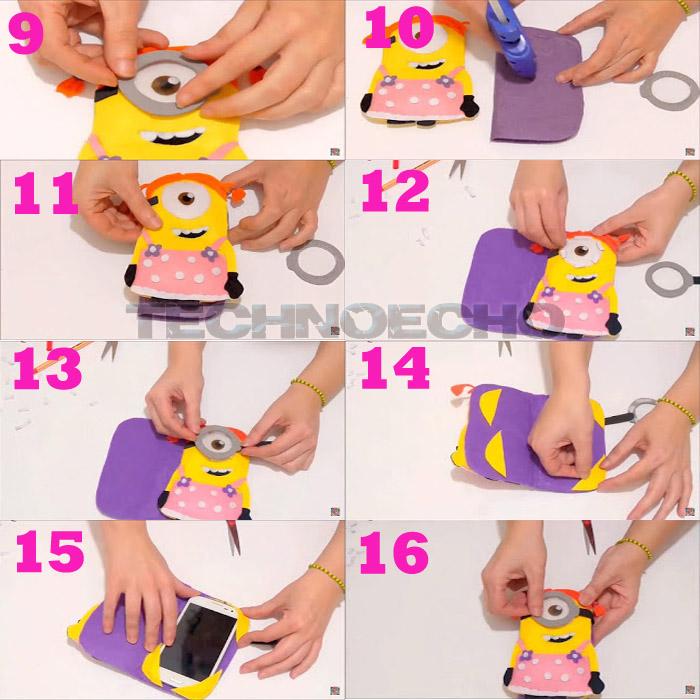 cara membuat sarung hp dari kain flanel diy tutorial bocah ajaib