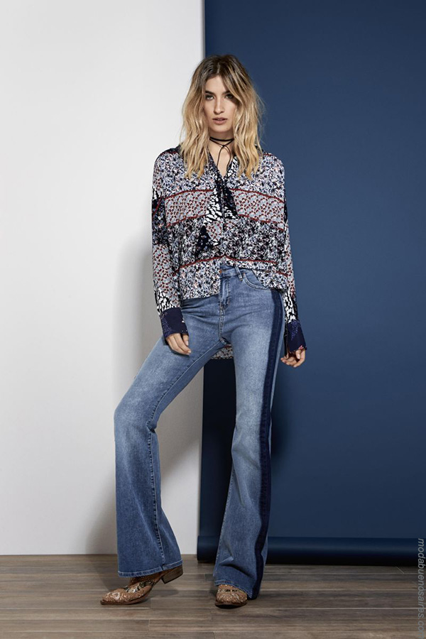 Moda jeans invierno 2017 pantalones oxford invierno 2017 moda mujer. Moda 2017.