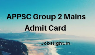APPSC Group 2 Mains Admit Card