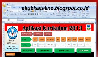 Aplikasi Raport SD Kurikulum 2013 Edisi Revisi 2017
