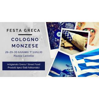 Festa greca e street food dal 28 giugno al 1 luglio Cologno Monzese (MI)