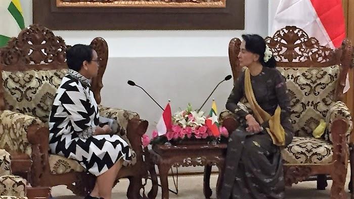 Menlu RI Usulkan Solusi Kemanusian kepada State Counsellor Myanmar