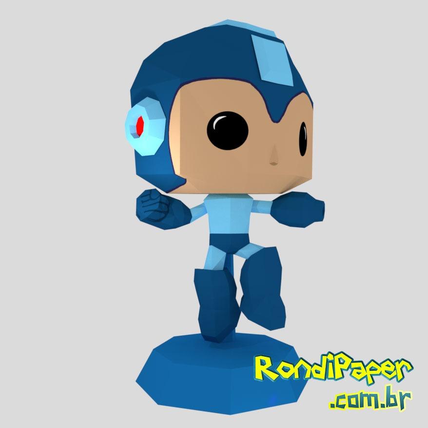 Megaman Jumping Funko Papercraft | RondiPaper PaperToy