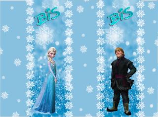 Etiquetas de Frozen con Nieve  para imprimir gratis.