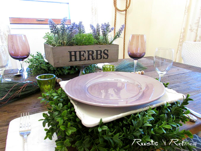 Unusual Ideas for Placemats - Use a wreath to add height, color and texture.