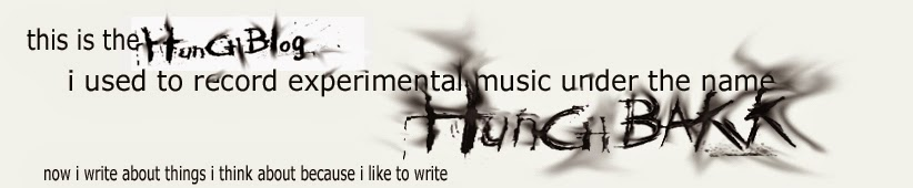 Hunchbakk - music and musings