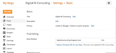 Blogger settings rel=canonical