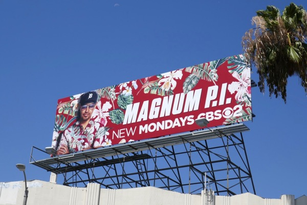 Magnum PI series launch billboard