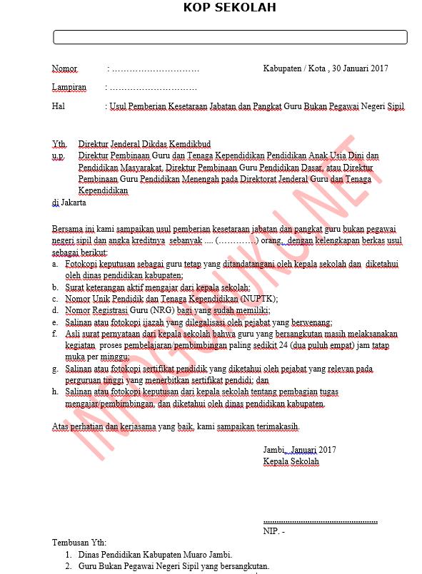 Juknis Syarat Dan Prosedur Kirim Berkas Inpassing Guru Non