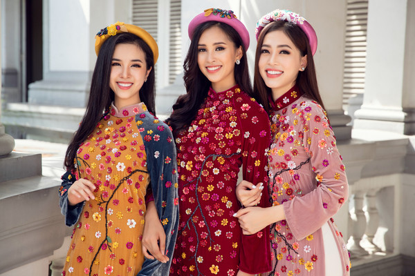 Top 3 Hoa hậu Việt Nam 2018 trang phục áo dài truyền thống @BaoBua: Duyên