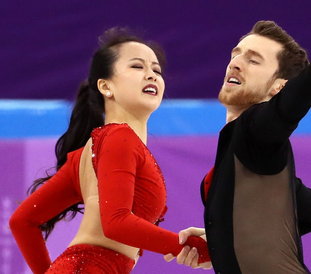 A wardrobe malfunction nearly led to an embarrassing moment for Yura Min on her Olympic debut on Sunday.