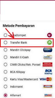 cara membayar di tokopedia dengan atm atau bank transfer
