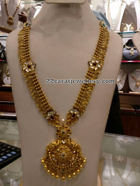 Antique Long Chain with Kundan Flowers