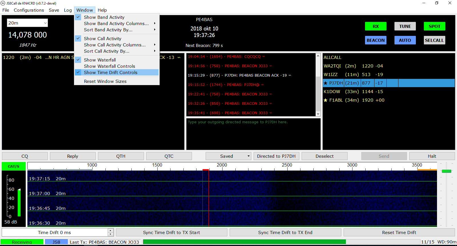 PE4BAS Amateur Radio Weblog: JS8Call quicky