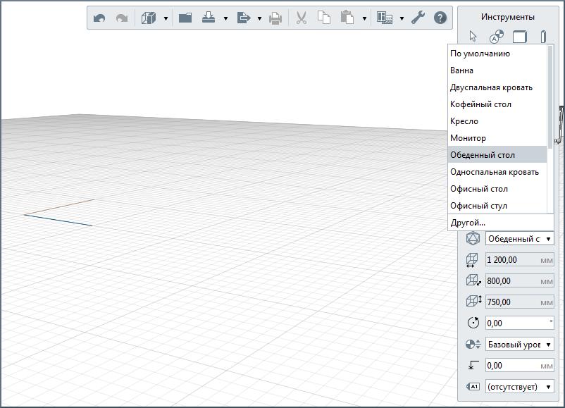 Элементы, созданные в шаблоне проекта