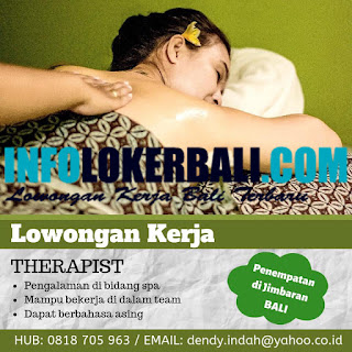 Lowongan Kerja Spa Therapist Juli 2019